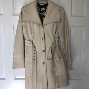 Guess Cream Coat Size M